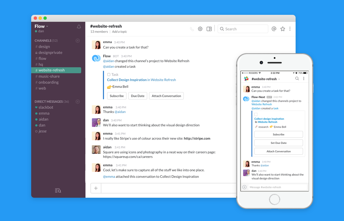 slack project management