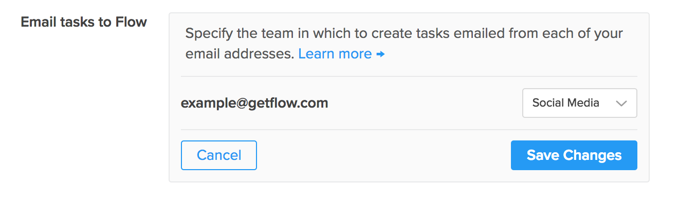 Flow - Managing your email addresses