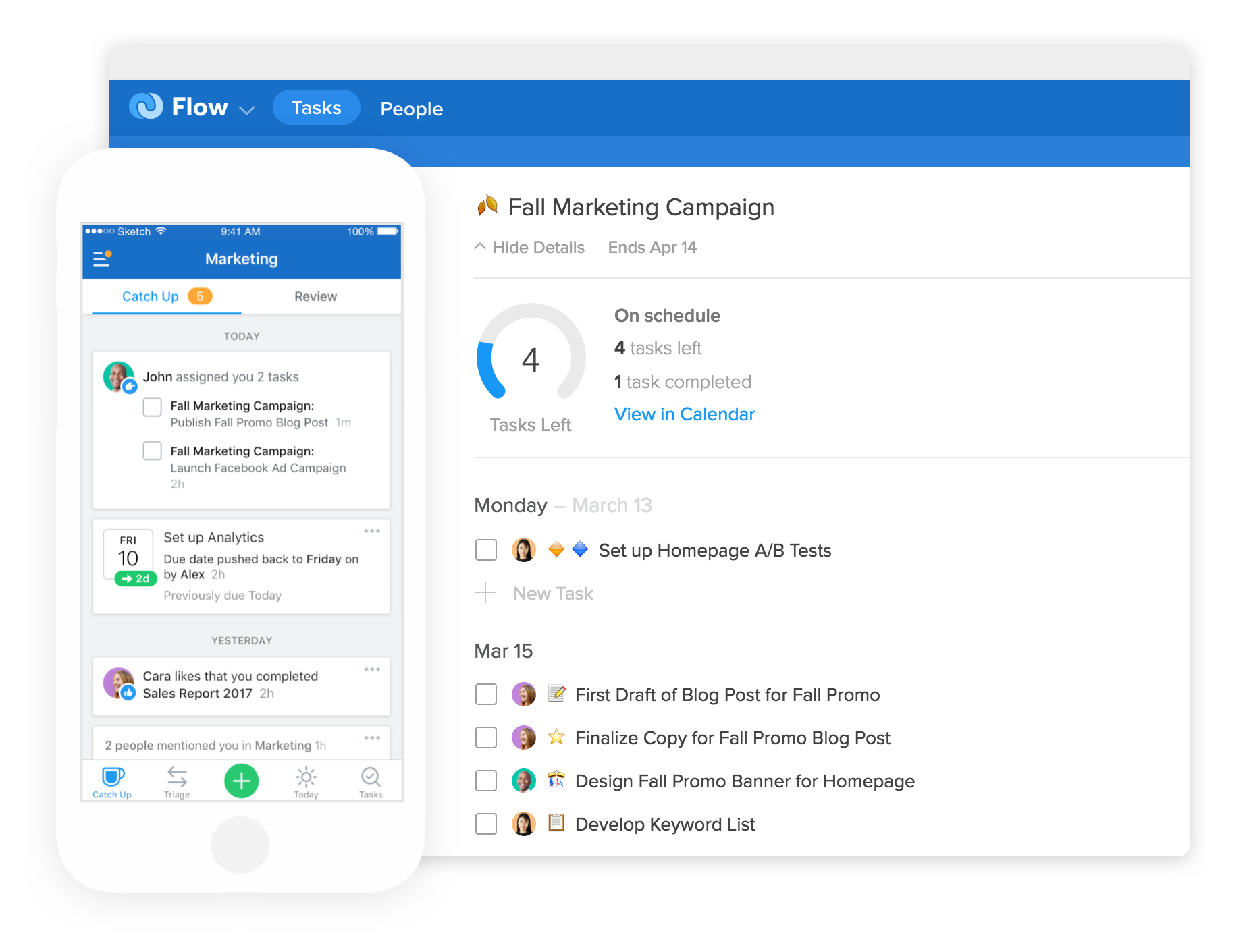 Flow Project and Task Management Software for Teams – Employee Task List
